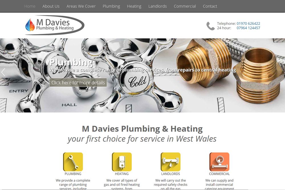 M Davies Plumbing web site