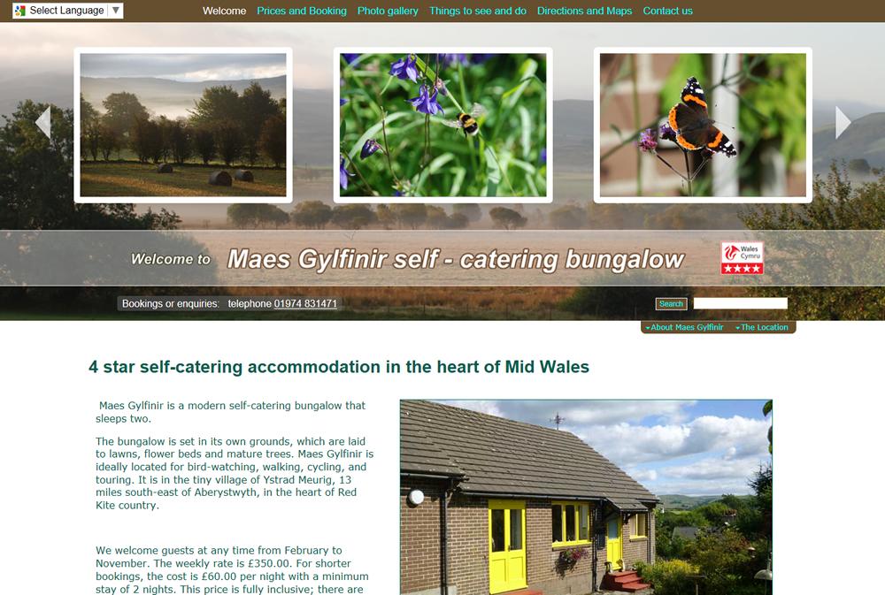 Maes Gylfinir web site